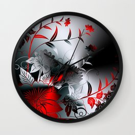 Metallblumen Wall Clock
