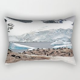 Gentoo Penguin Colony Rectangular Pillow