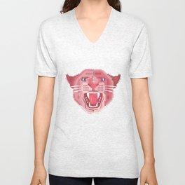 Pink Panther Pattern Unisex V-Neck