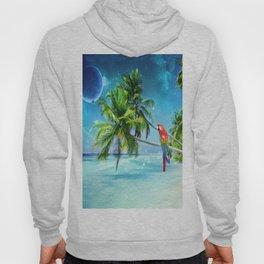 Parrot in the beach Hoody