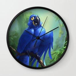 Moseley the Hyacinth Macaw Wall Clock
