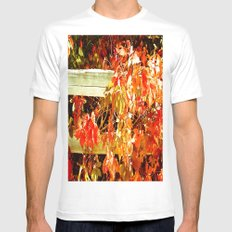 On The Fence About Fall MEDIUM Mens Fitted Tee White