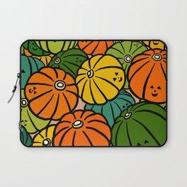 Halloween Pumpkins in Action Laptop Sleeve