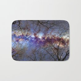 Fantasy stars. Milkyway through the trees. Bath Mat