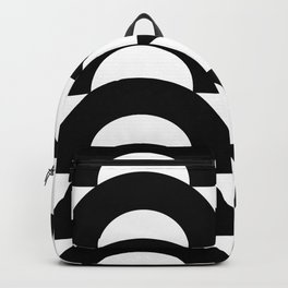 Black Arrows and Circles Graphic Art Backpack