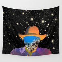 cowboy Wall Tapestries featuring Space Cowboy. by Daniel Montero