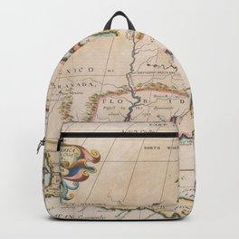 Vintage Map of North America (1719) Backpack
