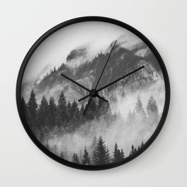 Vancouver Fog B&W Wall Clock