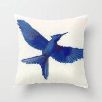 mockingjay Throw Pillows featuring Mockingjay Mockingjay by Blanca MonQnill Sole