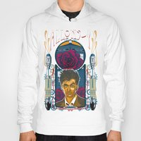 david tennant Hoodies featuring Doctor Who, David Tennant Allons-Y 10th Doctor by Tom Ryan's Studio