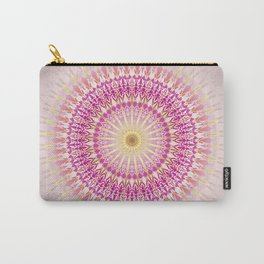 Pink Gold Mandala Carry-All Pouch