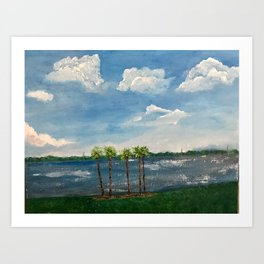 A View of The Indian River Art Print