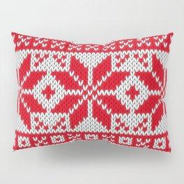 Winter knitted pattern 6 Pillow Sham