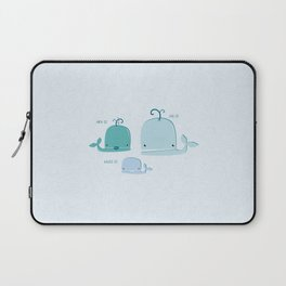 whale family Laptop Sleeve