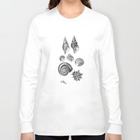shells Long Sleeve T-shirts featuring shells by JadeApple