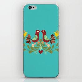 Vector folk art design iPhone Skin
