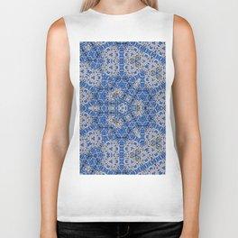 #hexagon #pattern #blue #tile Biker Tank
