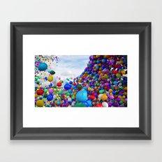 OMG Balloons! Framed Art Print