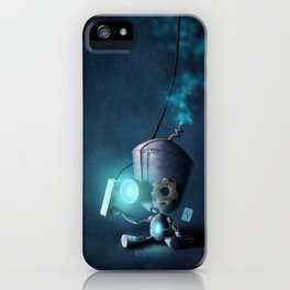 Glow Robot iPhone Case
