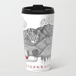 Sugarbush Vermont Serious Fun for Skiers- Zentangle Illustration Travel Mug
