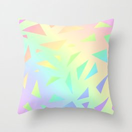 Pastel Gradient Design with Pastel Ombre Triangles! Throw Pillow
