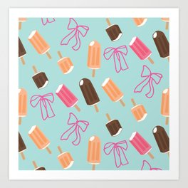 Popsicle and fudgecicle pattern Art Print