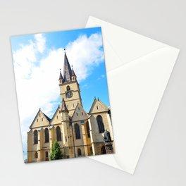 sibiu city romania Parochial Evangelical Church landmark architecture Stationery Cards