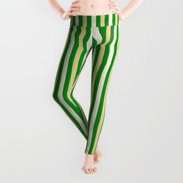 Green and Golden Vertical Leggings