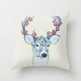 Christmas Deer - Forest animals series Throw Pillow