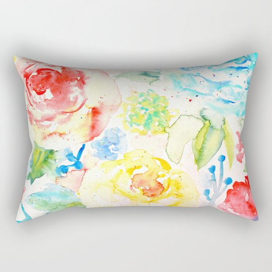 Abstract Flowers 06 Rectangular Pillow