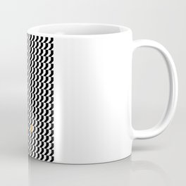 Orange: Black And White Pattern Coffee Mug