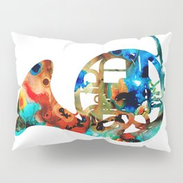 French Horn - Colorful Music By Sharon Cummings Pillow Sham