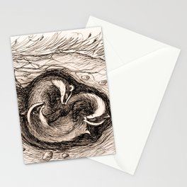 Sleeping Badgers Stationery Cards