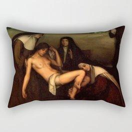 1915 Classical Masterpiece 'The Grace' by Julio Romero de Torres Rectangular Pillow