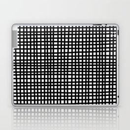 Black and White Gingham Laptop & iPad Skin