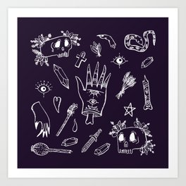 Witch tools Art Print