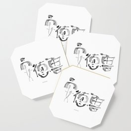 Name: Andrew. Free hand writing in Chinese Calligraphy Coaster