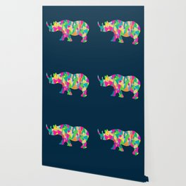 Abstract Rhino Wallpaper