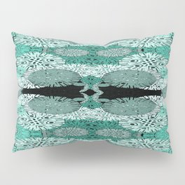 Snowflake in Teals Pillow Sham
