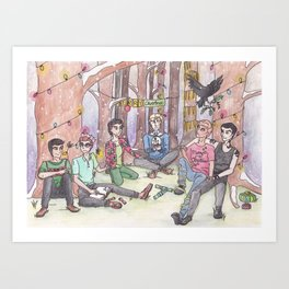 Christmas in Cabeswater Art Print