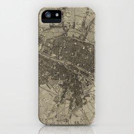 Vintage Map of Paris France (1735) iPhone Case