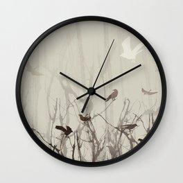 Songs at Dusk Wall Clock