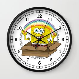 spongebob squarepants imagination Wall Clock