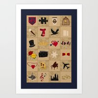 klaine Art Prints featuring I Still Believe in Klaine (Patchwork Love Quilt) by OldCoyote
