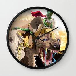 Pet Hyena Wall Clock