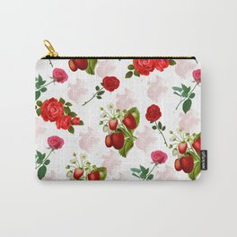 Roses and Strawberry Pattern Carry-All Pouch