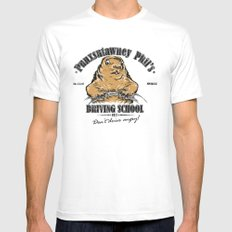 Punxsutawney Phil's Driving School Mens Fitted Tee MEDIUM White