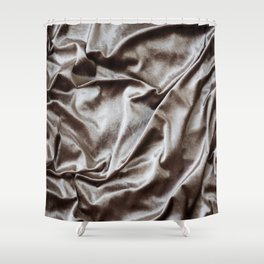 WOKE UP LIKE THIS - abstract luxury shiny texture, modern, monochrome Shower Curtain