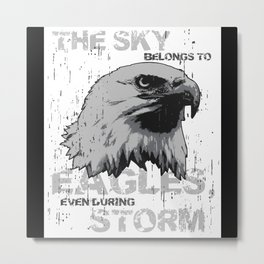 Eagle Lover Gift Idea Design Motif Metal Print