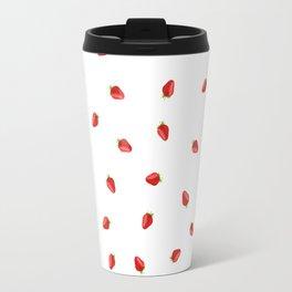 Strawberry Artwork Travel Mug